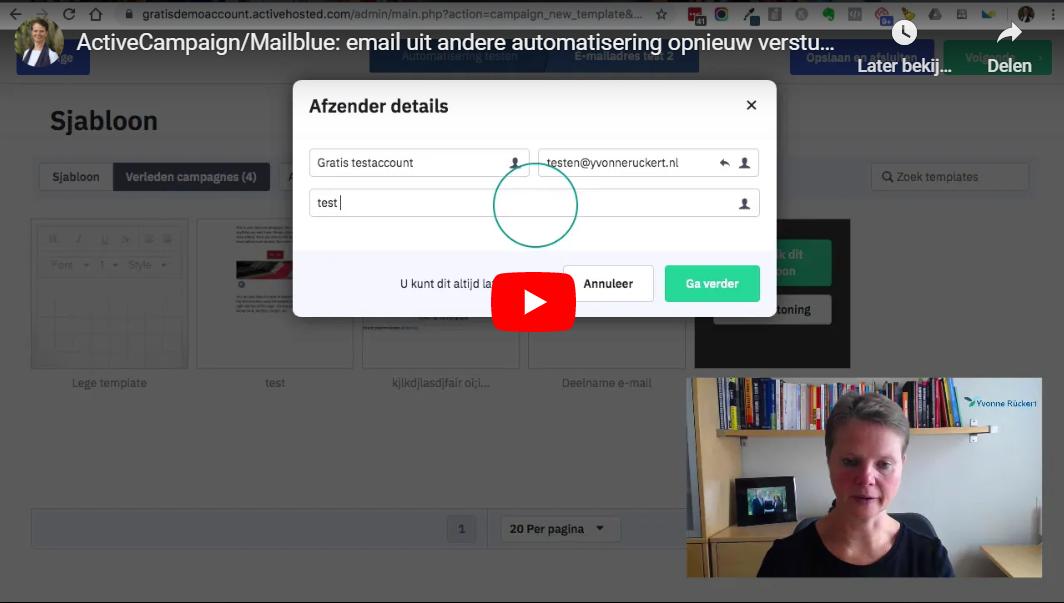 T&T Email uit andere automatisering opnieuw versturen
