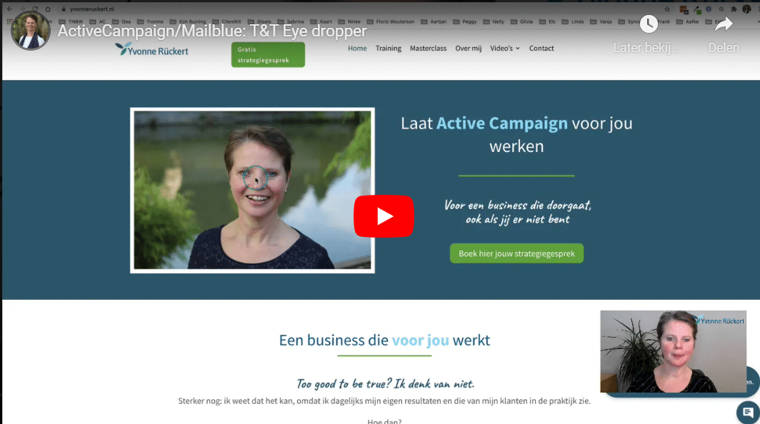 Yvonne Ruckert ActiveCampaign eye dropper